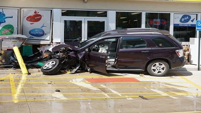 Area Evacuated After Man Crashes Vehicle into Cedar Lake Gas Station