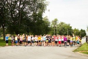 Runners and walkers wait for the start of Humane Society Calumet Area's Spay the Stray 5K on Sept. 6, 2014 at the Eisenhower Center in Lansing, Ill. (Photo provided by Humane Society Calumet Area)