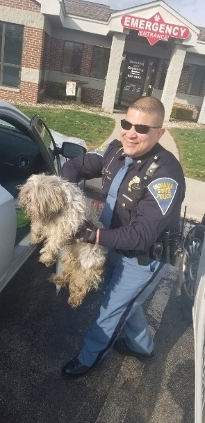 Indiana State Police Troopers Rescue Little Dog from