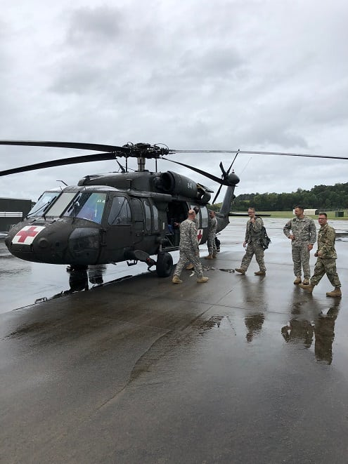 Indiana National Guard Aircraft Depart Gary for Florence
